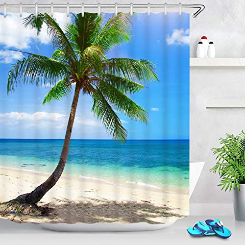beach scene shower curtain - 9