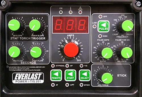 2017 Everlast Power ITig 201 DC STICK TIG welder 110v/220v dual voltage