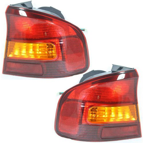 (2000-2004 Subaru Legacy 4-Door Sedan GT, L, SE Taillight Taillamp Rear Brake Tail Light Lamp (Quarter Panel Outer Body Mounted) Pair Set Right Passenger AND Left Driver Side (00 2000 01 2001 02 2002 03 2003 04 2004))