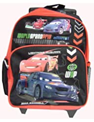 12 Disney Cars 2 World Grand Prix Lineup Toddler Rolling Backpack