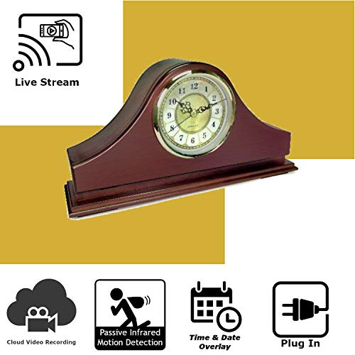 - Discover IT | Wi-Fi Hidden Camera Spy Cam Home Surveillance Nanny Cam Mantel Clock with Cloud Video Recording