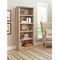 Better Homes and Gardens Crossmill 5-Shelf Bookcase (Weathered)
