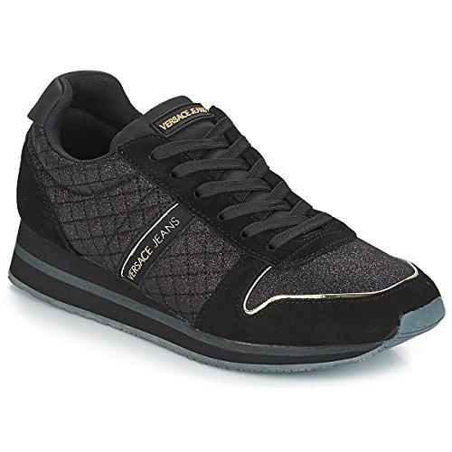 Jeans Versace E899 Scarpe de Mujer Negro Nero Donna Zapatillas para Gimnasia pddrfvx
