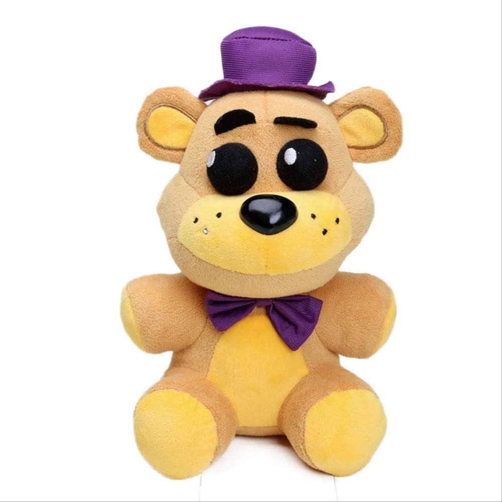 N\A 20cm FNAF Freddy Plush Toys, Five Nights At Freddy'S Golden Bear Nightmare Stuffed Dolls, 20cm Sombrero de Peluche Oso de Peluche Morado