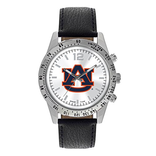 Auburn Tigers Sport Watch (NCAA Auburn Tigers Adult Men Letterman Mens Watch, One Size, Silver & Black)