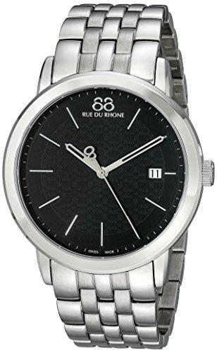 88-Rue-du-Rhone-Mens-87WA140001-Analog-Display-Swiss-Quartz-Silver-Watch