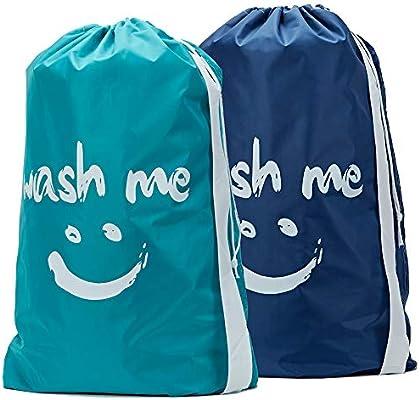 HOMEST Bolsas de lavandería de Viaje con cordón, Correa para el ...
