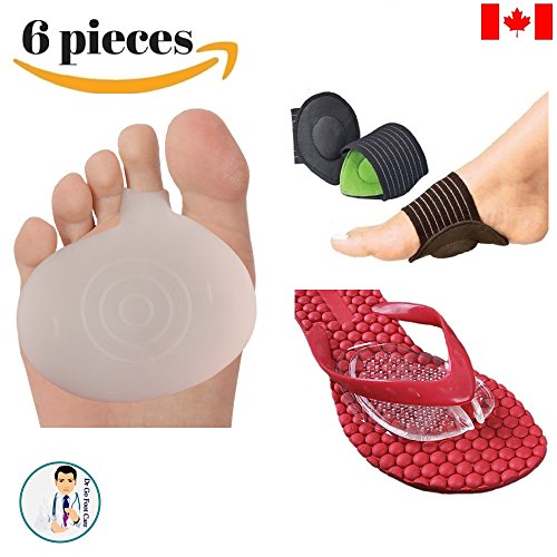 Amazon Lightning Deal 64% claimed: Dr Go - Toe Pain Relief Kit - 6 Piece of Metatarsalgia, Neuroma Pain Relief, Arch Pain, Sandal Pads, Toe Pain Cushion, Orthotics, Shoe Insert, Toe Cushion, Foot Pain Relief, Flat Foot Pain 5