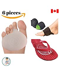 Dr Go - Toe Pain Relief Kit - 6 Piece of Metatarsalgia, Neuroma Pain Relief, Arch Pain, Sandal Pads, Toe Pain Cushion, Orthotics, Shoe Insert, Toe Cushion, Foot Pain Relief, Flat Foot Pain 5