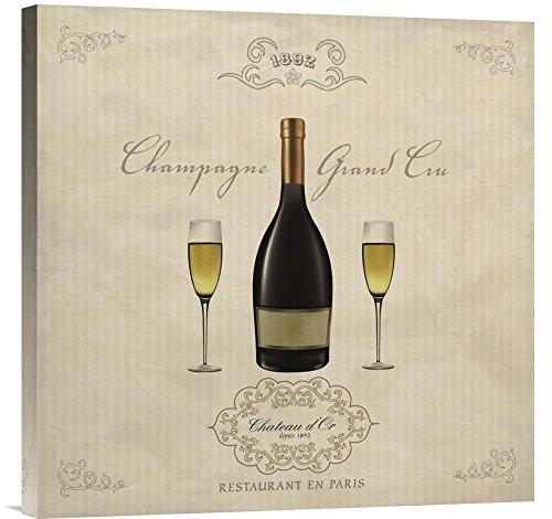 Global Gallery GCS-393687-2424-142 Sandro Ferrari Champagne Grand Cru Wall Art Gallery Wrap Giclee on Canvas Print