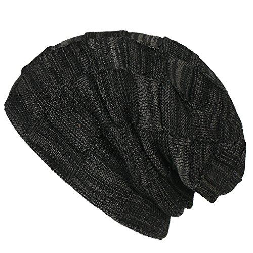Esquí Xianshu de Ssuave Sombrero Unisex Gorro Hat Estiramiento Caliente Gorra Negro Pop Flexible Hip de Punto RwSFq7R
