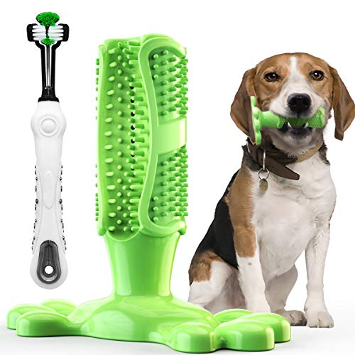 TAKEBEST Dog Chew Toothbrush – Safe, Natural, Non-Toxic and Long-Lasting Dog Pet Chew Toys – Dog Toothbrush Stick for…