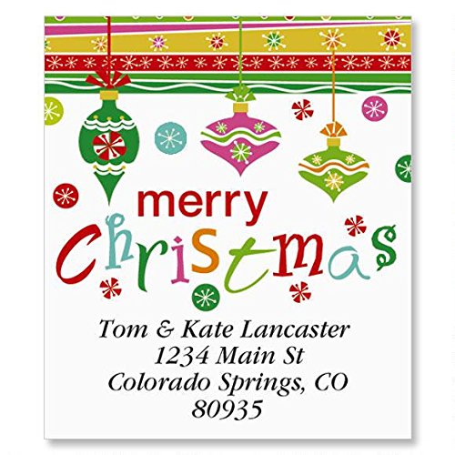 (Merry Christmas Address Labels - Self-Adhesive, Flat-Sheet Select Address Label, 1 1/2 x 1 3/4 Count 144)