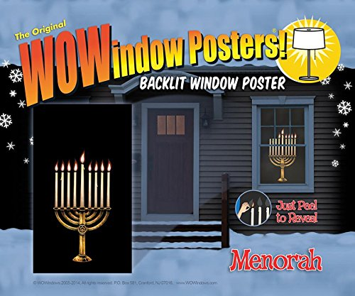 Wow Windows 208163 Menorah Window -