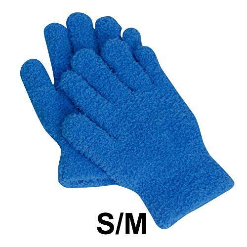 Price comparison product image EvridWear Microfiber Auto Dusting Cleaning Gloves for Cars and Trucks,  Dust Cleaning Gloves for house cleaning, Great for cleaning nooks and crannies Safe to use on any surface! (S / M)