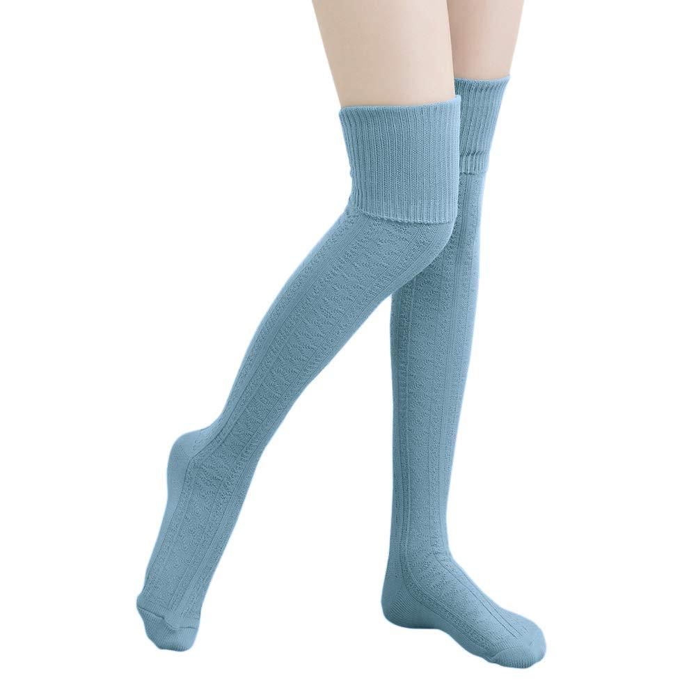 Thigh High Socks,HITOP Over Knee Socks for Women Girl,Crochet Long Socks Leg Warmer Leggings WZ-021