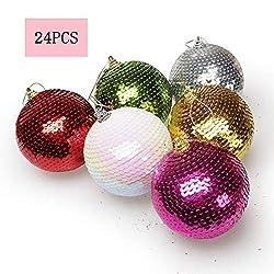 Shatterproof Christmas Sequins Glitter Balls