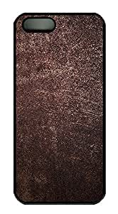 iPhone 5 5S Case Brown Leather Skin Texture102 PC Custom iPhone 5 5S Case Cover Black