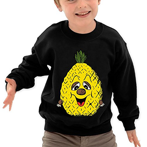 Price comparison product image Puppylol Pineapple Show Off Your Wealth Kids Classic Crew-neck Pullover Hoodie Black 5-6 Toddler