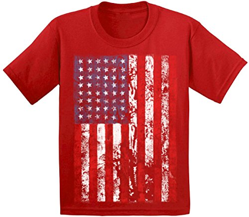 Awkwardstyles Youth American Flag Distressed T-Shirt 4th
