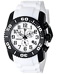 Swiss Legend Men's 11876-TIB-02 Commander Titanium Analog Display Swiss Quartz White Watch