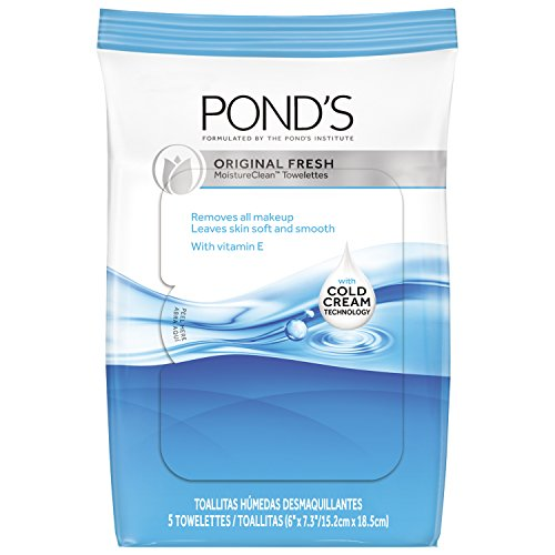Pond's Moisture Clean Towelettes, Original Fresh 5 ct, Pack