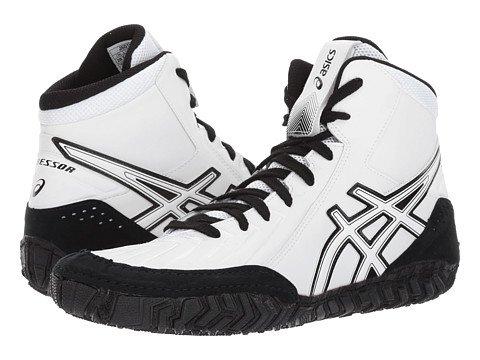 (アシックス) Asics メンズレスリングシューズスニーカー靴 AggressorR 3 [並行輸入品] B07467QD27 14 (30.5cm) D - M|White/White/Black White/White/Black 14 (30.5cm) D - M