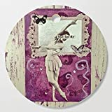 Society6 Wooden Cutting Board, Round, Butterfly! Dance! by ladyjennd