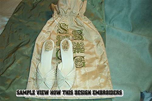 """ABC Designs Victorian Glamour Monograms Machine Embroidery 4/""""x4/""""hoop 26 Capitals"""
