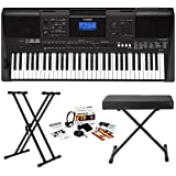 Yamaha PSR-E453 61-Key Touch Response Portable Keyboard w/ Yamaha Survival Kit & Knox Stand/Bench
