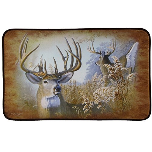 DeLeon Collections Rustic Deer Memory Foam Bath Mat (Bath Mat Cabin)