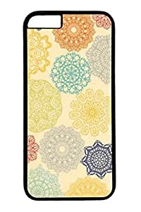 Colorful Flowers Slim Hard For Iphone 6Plus 5.5Inch Case Cover Case PC Black Cases