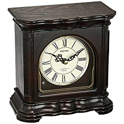 SEIKO Traditional Musical Desk/Table Clock - 7.55 in. Wide