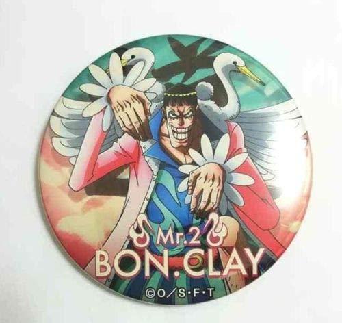 One Piece Can Badge Button Bon Clay Mr.2 Yakara BEST30 Eiichiro Oda Anime ()