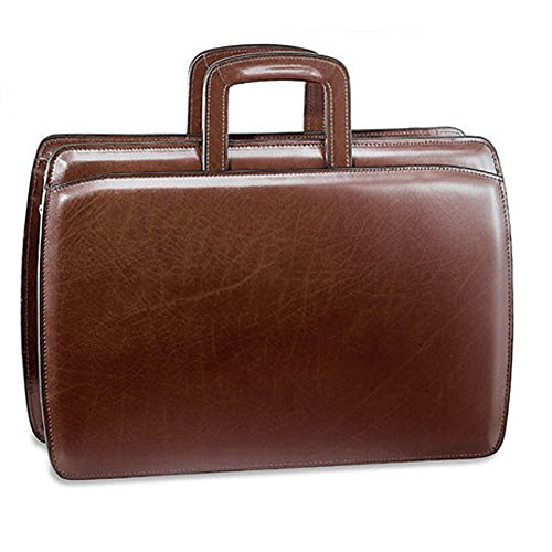Jack Georges Elements Slim Leather Briefcase (COGNAC) Jack Georges Slim Briefcase