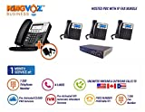 Hosted PBX /IP Fax Bundle, in the Cloud, VoIP Phone System 1 D40 & 3 GXP1620 IP Phones, PreActivated 1 Month Cloud PBX Service with 2 DID Phone & Fax Number, 1 UTA, IVR