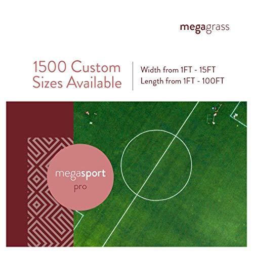 MegaGrass 10 x 12 Ft MegaSports Pro Artificial Grass for Pet Sports Agility Indoor Outdoor Green Faux Fake Grass Decor Mat Rug Pad Carpet Turf | 120 SqFt | 1.25