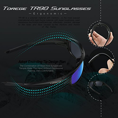 TOREGE-Polarized-Sports-Sunglasses-for-Man-Women-Cycling-Running-Fishing-Golf-TR90-Unbreakable-Frame-TR011