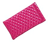 quilted ear warmers - Glossy Quilted Spring Top Eyeglass Case For Men & Women Squeeze Top Case, Pink
