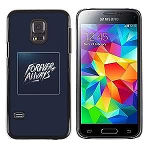 MobileHut / Samsung Galaxy S5 Mini, SM-G800, NOT S5 REGULAR! / Forever Always Gold Blue Baywatch / Delgado Negro Plástico caso cubierta Shell Armor Funda Case Cover