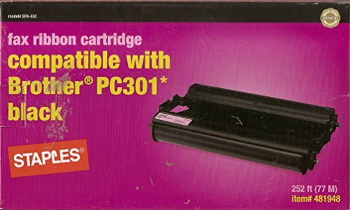 Fax Ribbon Cartridge Compatible with Brother Pc301 (Black) by - Fax Pc301 Compatible