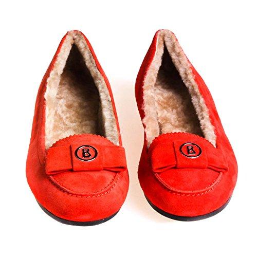 Bogner Damen Ballerina Wildleder Orange