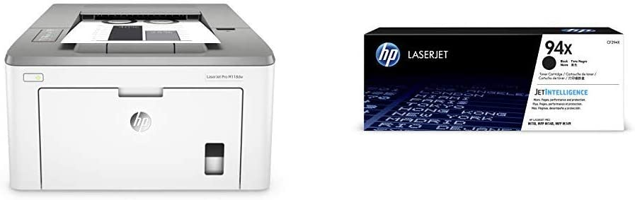 HP Laserjet Pro M118dw Wireless Monochrome Laser Printer with Auto Two-Sided Printing, Mobile Printing & Built-in Ethernet (4PA39A) with High Yield -Toner Bundle