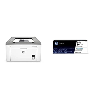 HP Laserjet Pro M118dw Wireless Monochrome Laser Printer with Auto Two-Sided Printing, Mobile Printing & Built-in Ethernet (4PA39A) with High Yield Toner Bundle
