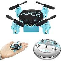 Littleice Mini Drone FQ777 FQ04 Beetle Mini Pocket Drone with Camera Headless Mode RC Reomote Control Quadcopter RTF (Blue)