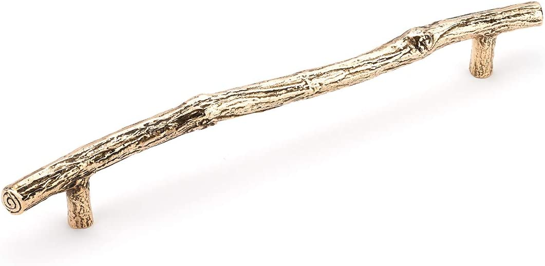 """Schaub 785-NB Mountain Collection 12"""" cc Twig Appliance Pull - Natural Bronze"""