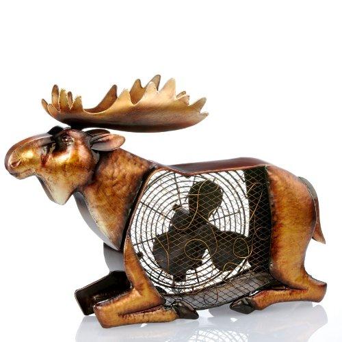 (Deco Breeze Moose Figurine Fan)