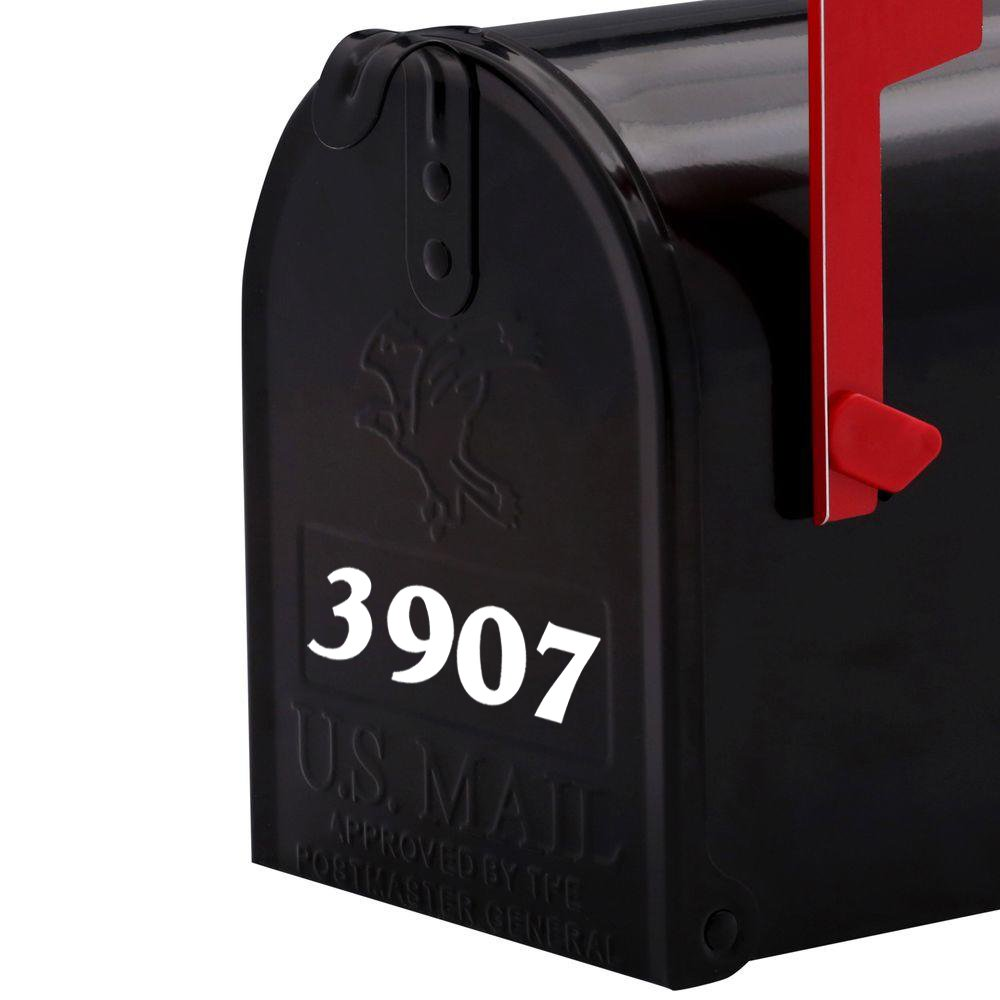 Custom Mailbox Numbers or House Lettering Name Vinyl Decal Sticker 1 tall Mail Post Home BLACK