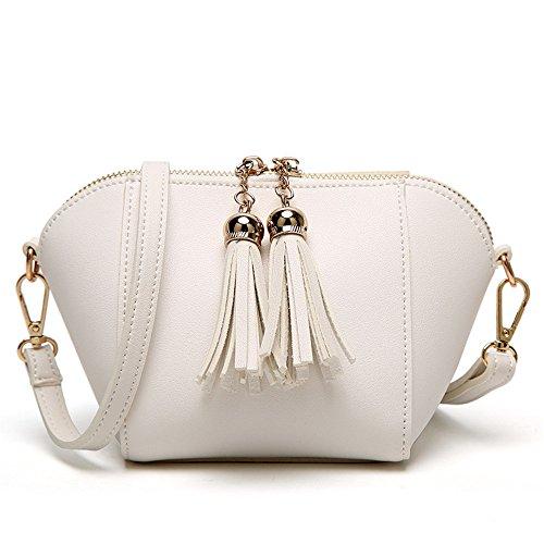 Moda Satchel Señoras White Bag GWQGZ Retro Negro dUqPCwwt
