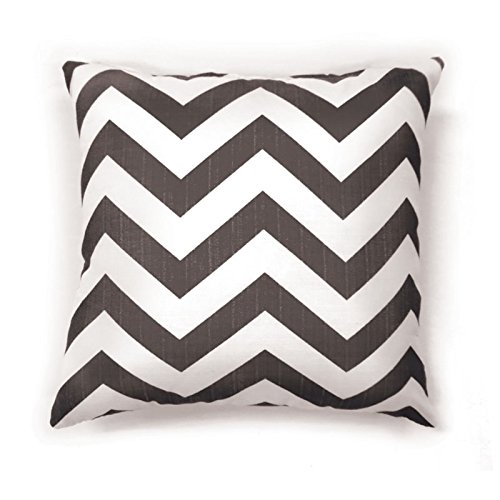 Furniture of America Dina 18'' Square Throw Pillow in Gray (Set of 2)